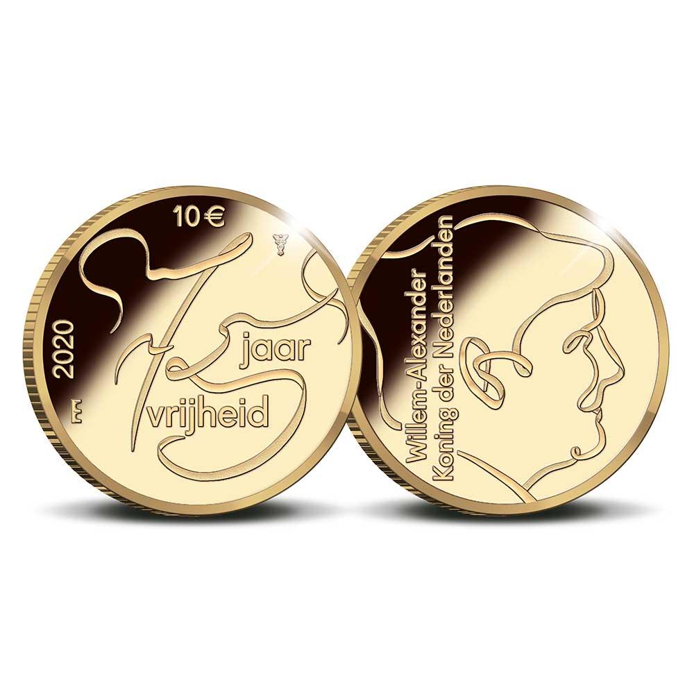 75 jaar Vrijheid 10 euro goud 2020 herdenkingsmunt proof ...