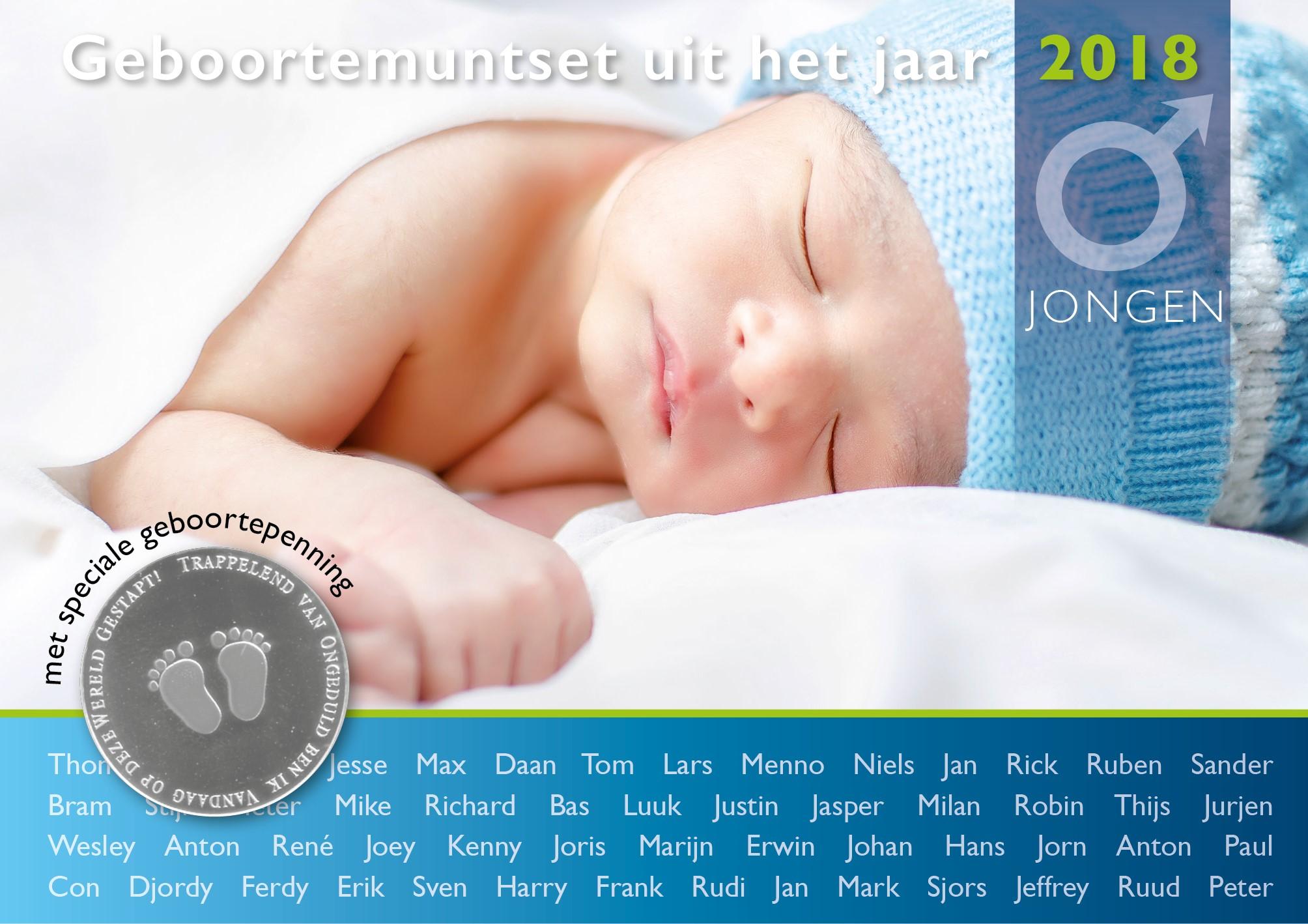 Geboorteset baby jongen theo peters numismatiek filatelie