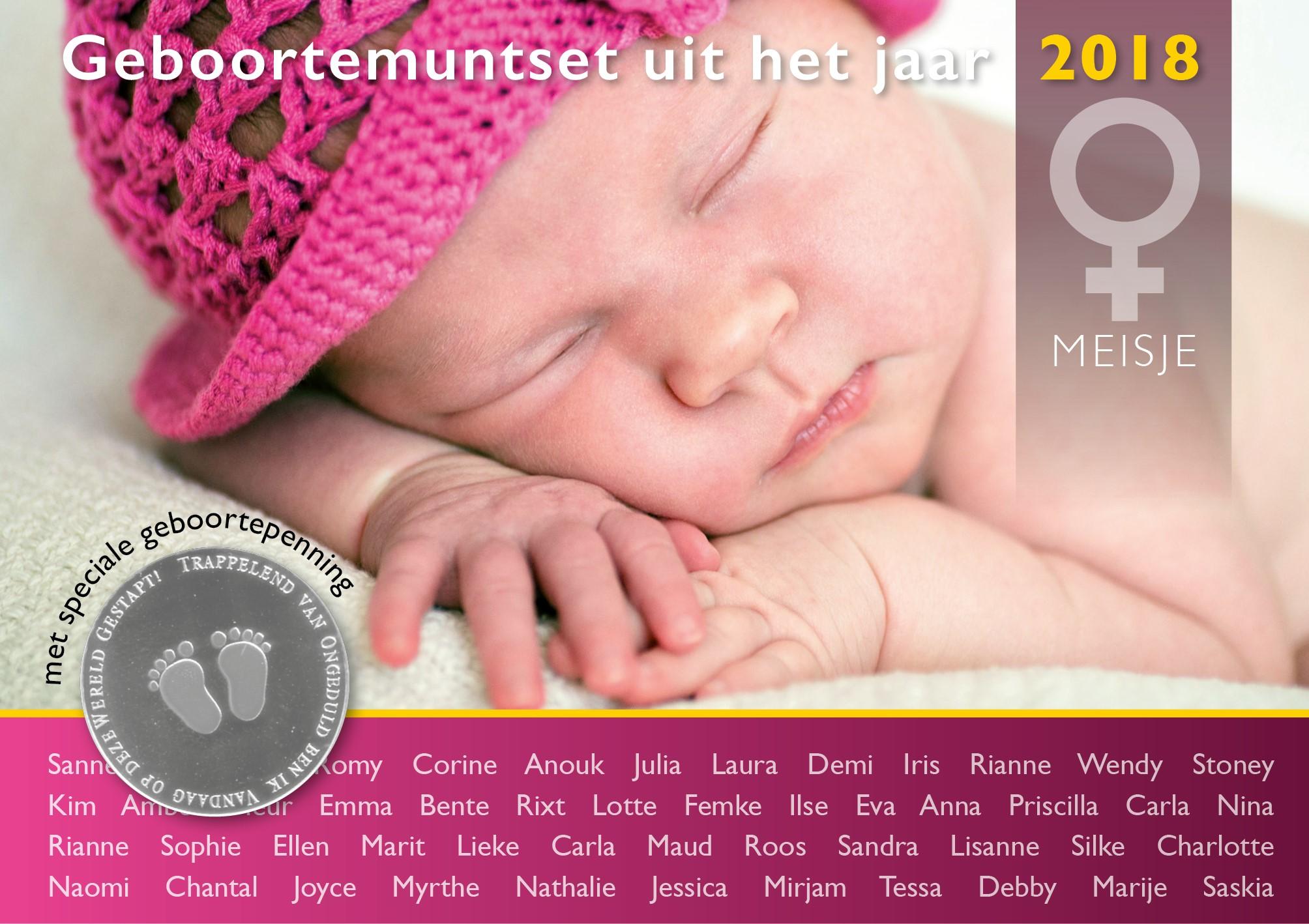 Geboorteset meisje 2018 theo peters numismatiek & filatelie b.v.
