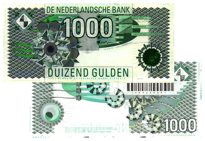 1000 gulden 1994 kievit 156 1 theo peters numismatiek for Gulden interieur b v