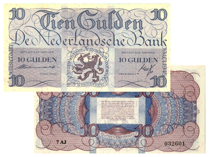 10 gulden 1945 i lieftincktientje 45 1b theo peters for Gulden interieur b v