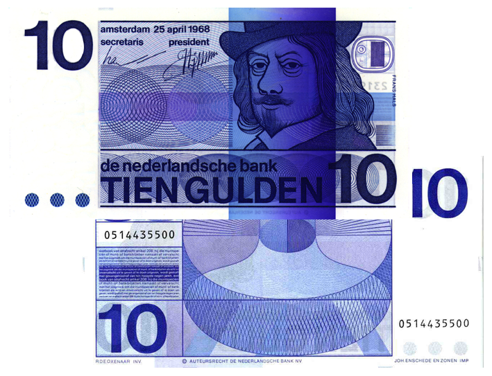 10 gulden 1968 frans hals 49 1a theo peters for Gulden interieur b v
