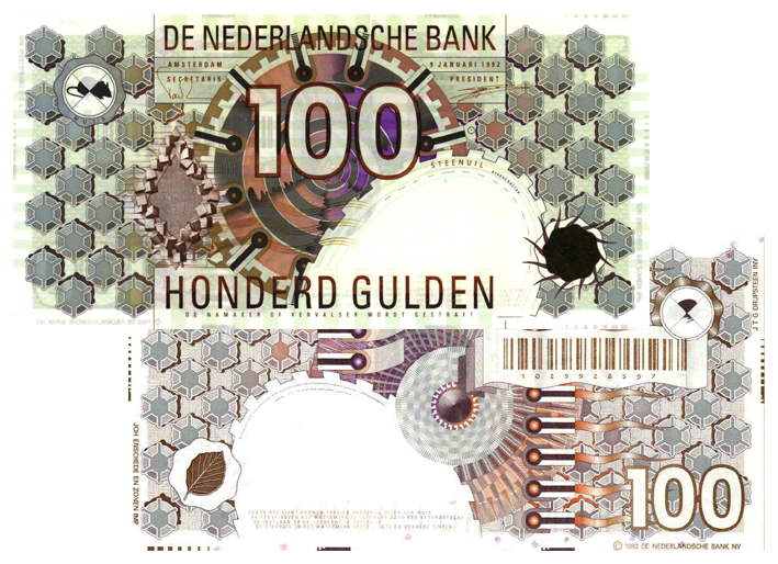 100 gulden 1992 steenuil 124 1b theo peters numismatiek for Gulden interieur b v