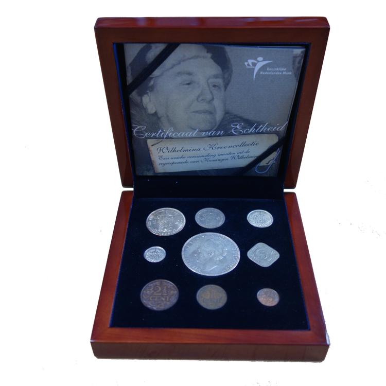 zilveren wilhelmina munt