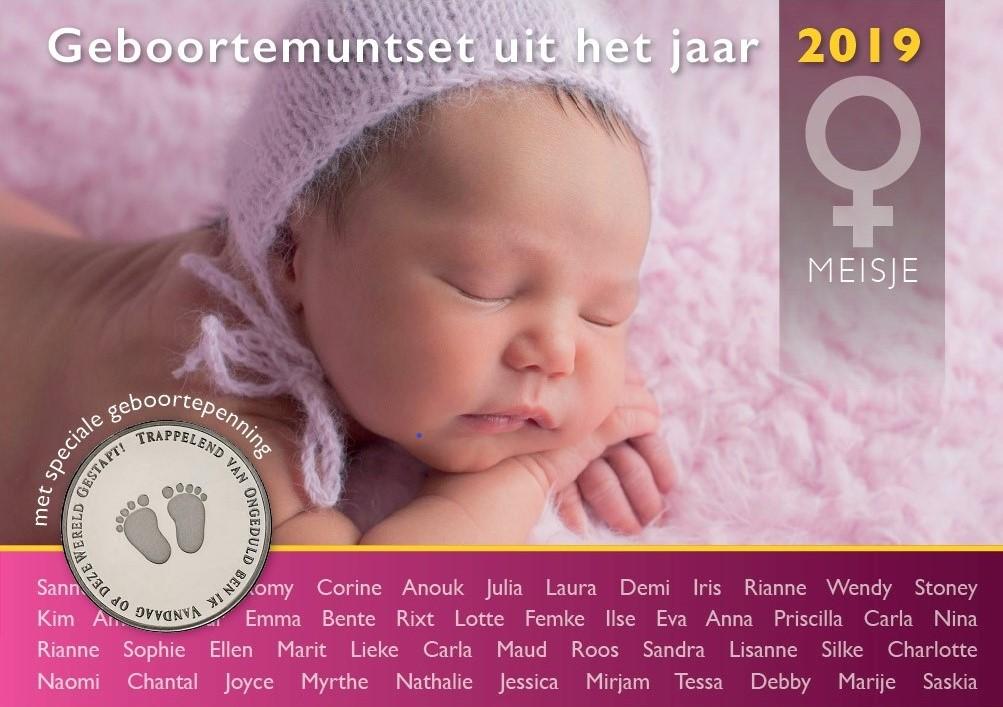 Geboorteset baby meisje theo peters numismatiek filatelie