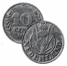 10 Cent 1941 z Driekruinenboom