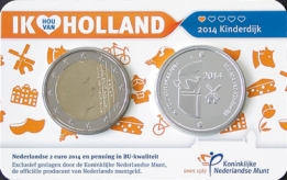 Holland Coin Card 2 Euro 2014 Coincard Zilver