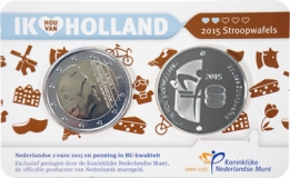 Holland Coin Card 2 Euro 2015 Coincard Zilver