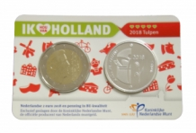 Holland Coin Card 2 euro 2018 Coincard zilver