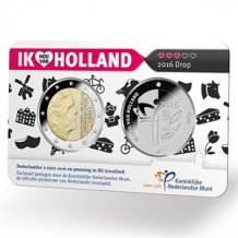 Holland Coin Card 2 Euro 2016 Coincard zilver