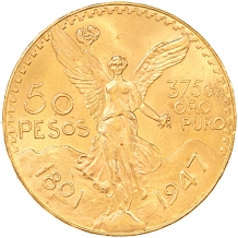 Mexico 50 Pesos gold 1 ex.
