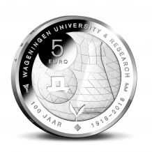Wageningen Universiteit 5 euro zilver 2018 herdenkingsmunt proof